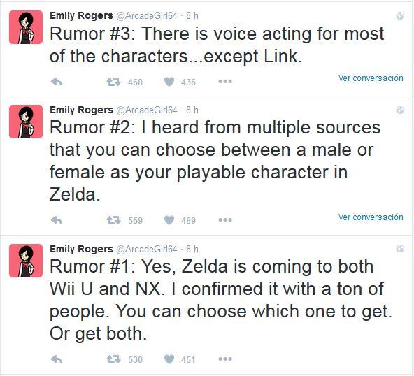rumores de nuevo zelda